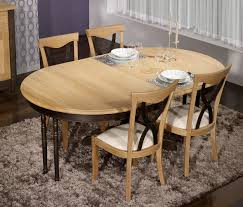 Table Ronde Blanche Avec Rallonge Pied Central by