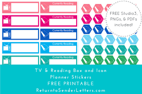 printable tv stickers return to sender letters to the world planit tv and reading