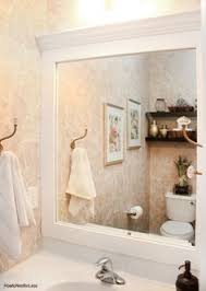 Bathroom Framed Mirrors by How To Frame A Bathroom Mirror With No Miter Cuts Another
