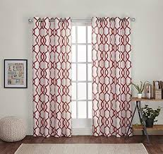 Orange And White Curtains 108 Inch Mecca Orange White Curtains Panel Pair Set Orange