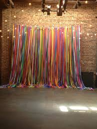 streamer backdrop multi color streamer ribbon photo backdrop with string lights