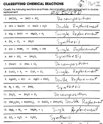 printables classifying chemical reactions worksheet eatfindr