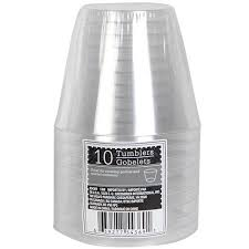 bulk clear plastic tumblers 9 oz 10 ct packs at dollartree