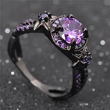 amethyst stone rings images Amethyst black gold filled february birthstone ring pricole jpg