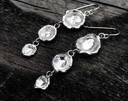 Black And Silver Chandelier Earrings Silver Chandelier Etsy