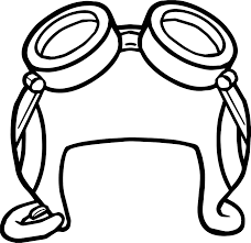 aviator hat puffle coloring wecoloringpage