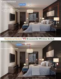 Bedroom Wall Lights With Rocker Switch Wireless Light Switch Kit No Battery No Wiring Quick Create Or