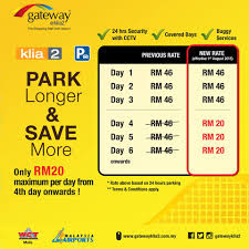 Klia Airport Floor Plan Reduced Parking Charges At Klia2 Malaysia Airport Klia2 Info