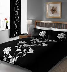 black white double duvet cover bed set amazon co uk kitchen home