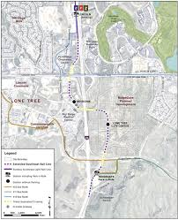 denver light rail expansion map southeast rail line extension right around the corner