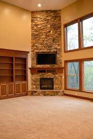 image corner fireplace ideas pictures decorating in stone with tv