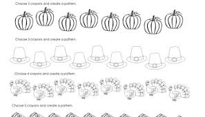 Thanksgiving Printables First Grade Thanksgiving Number Patterns Free Worksheets Squarehead Teachers