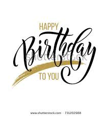 happy birthday you vector gold glitter stock vector 407381821