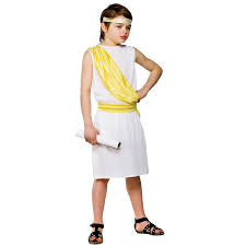 asda childrens halloween costumes childrens ancient greek god caesar fancy dress costume boys