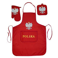 Red Kitchen Set - polish art center polish barbecue kitchen set apron mit and