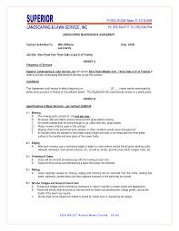 landscaping contract template thebridgesummit co
