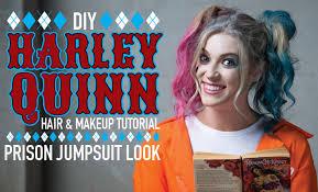Orange Prison Jumpsuit Halloween Costume Diy Harley Quinn Makeup U0026 Hair Tutorial U2013 Squad Prison