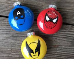 marvel ornament etsy