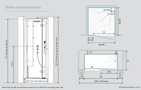 Standard Mirror Sizes For Bathrooms Kinedo Horizon Recess Watertight Pivot Door Shower Cubicle Pod