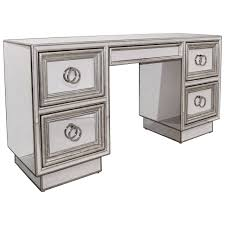 Silver Leaf Nightstand Mirror And Silver Leaf Desk Or Vanity For Sale At 1stdibs