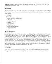 Caregiver Job Description Resume by Professional Nursing Home Volunteer Templates To Showcase Your