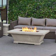 Rectangle Fire Pit - propane fire pits outdoor heating the home depot