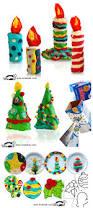 krokotak modelling clay christmas crafts