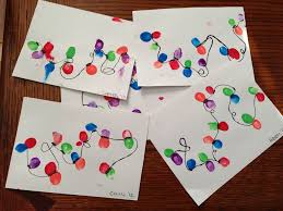 thumbprint christmas lights craft created by pinterest