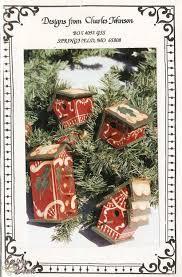 decorative painting bookstore gingerbread birdhouse tree