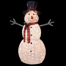 Outdoor Lighted Snowman Decorations by National Tree Company 60 In Snowman Decoration With Clear Lights