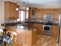 Dark Kitchen Cabinets Light Countertops Kitchen Dark Brown Cabinets Stainless Steel Modern Bar Stool