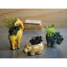 safari planters set of 3 made by charming accessories for any