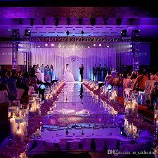 popular wedding centerpieces mirror carpet aisle runner gold