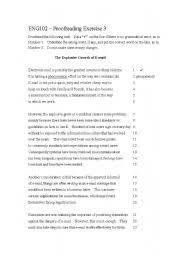 english teaching worksheets proofreading