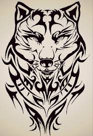 tribal wolf by forever on deviantart