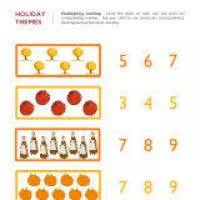 thanksgiving math worksheets for kindergarten thanksgiving