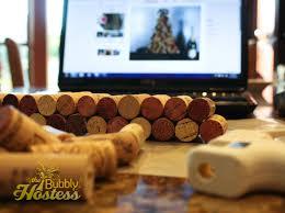 the bubbly hostess wine cork christmas tree