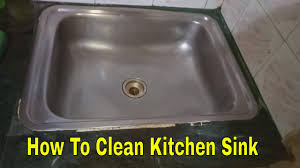 How To Clean The Kitchen Sink How To Clean Your Kitchen Steel Sink Cleaning Of Kitchen