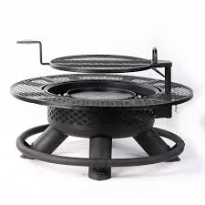 lowes wood burning fire pits incredible shop garden treasures 34 in w brushed bronze steel wood