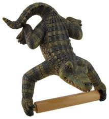 Animal Toilet Paper Holder Alligator Assistant Hanging Single Roll Toilet Paper Holder