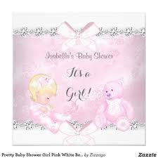 pretty baby shower pink white bear blonde 5 25