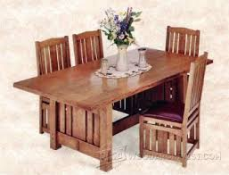 Arts And Crafts Dining Room Furniture Extendable Dining Table Plans Woodarchivist