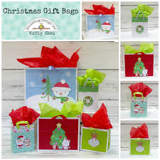 christmas gift bag doodlebug design inc christmas gift bags with kathy