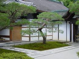 great minimalist japanese garden design with mossy land and exotic