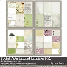 photo pocket pages pocket pages layered templates no 05 pertiet pse ps