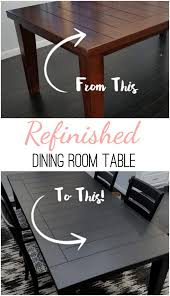 refinished dining room table a spark of creativity