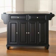 kitchen island with stainless steel top stainless steel kitchen island ebay