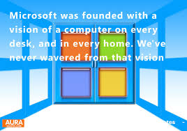 A Computer On Every Desk And In Every Home Vision Quotes Microsoft Was Founded With A Vision Of A Computer