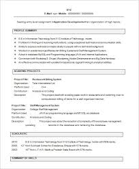 Professional Resume Format For Fresher by Sample Resume For Freshers Efficiencyexperts Us