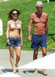 anthony bourdain anthony bourdain girlfriend asia argento show off their abs